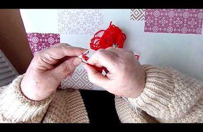 video : tricoter les semelles de chaussons et  / ou les dessus de chaussons baskets