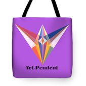 Yet-pendent Text Tote Bag for Sale by Michael Bellon