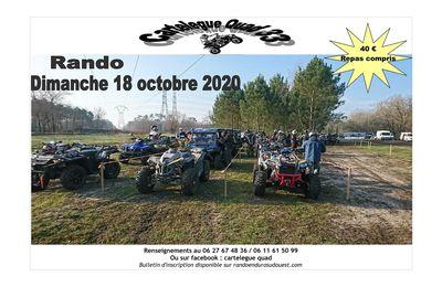 Randonnée Quad, moto et SSV du Cartelègue-quad 33, le 18 octobre 2020 à Cartelègue (33)