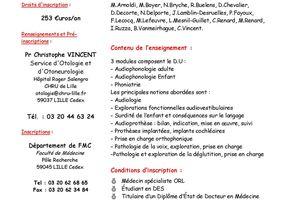 DU - Audiologie et Phoniatrie