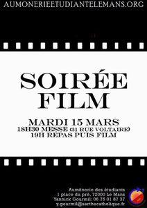 Mardi 15 mars : soirée film