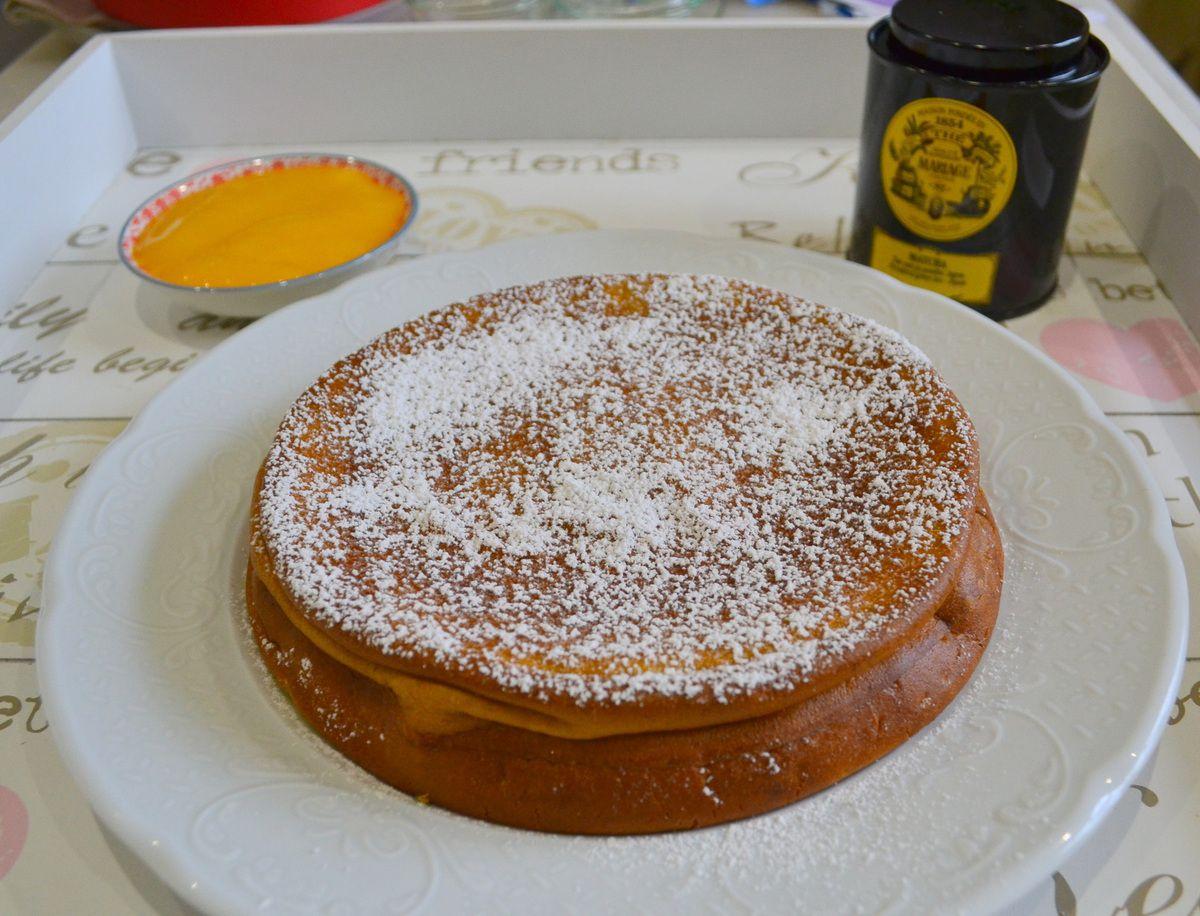 Gâteau au mascarpone et thé matcha