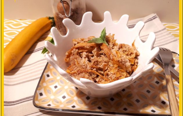 Tagliatelles de courgettes à la crème de noix de cajou