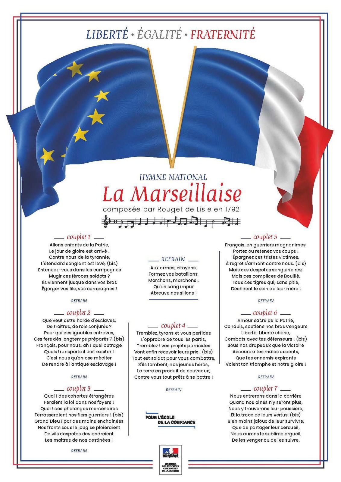 L'affiche de la Marseillaise Education Nationale