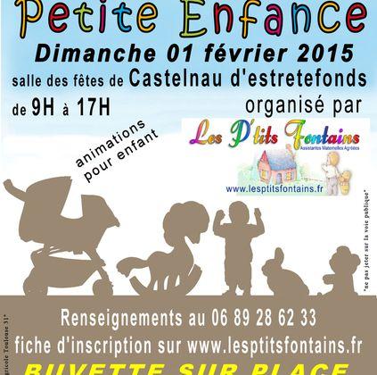 CASTELNAU D'ESTRETEFONDS : BRADERIE PETITE ENFANCE 1er FEVRIER 2015