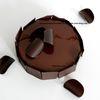 Choc Africain d'après Christophe Appert (Angelina Paris) : brownie chocolat noir, crémeux chocolat noir amer, mousse chocolat noir
