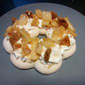 Pavlova pommes caramel spéculos - Mes Meilleures Recettes Faciles
