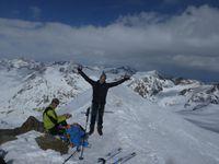 Raid à ski en Ortles : Jour 2 Pizzo Tresero 3602 m  et Punta San Matteo 3678 m