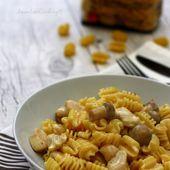 Pastasotto au poulet et champignons - Amandine Cooking