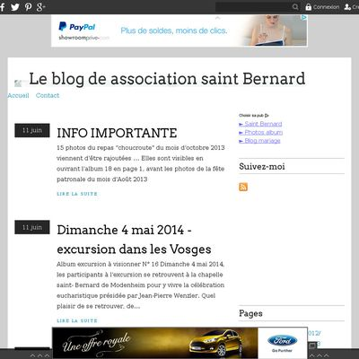 Le blog de association saint Bernard