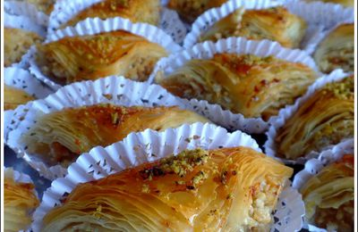 Baklawas triangles aux amandes