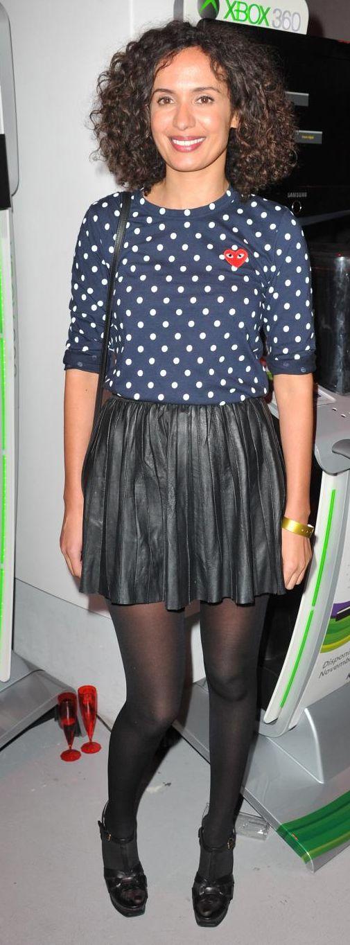 Amelle Chahbi le 23 septembre 2013. Soirée de lancement du jeu Fifa 14