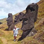 """""""Répertoire"""" L'île de Pâques, Easter island, Rapa nui, en 1986, 2001,2002, photos by GeoMar 022.ex. - SKREO-Dz"""