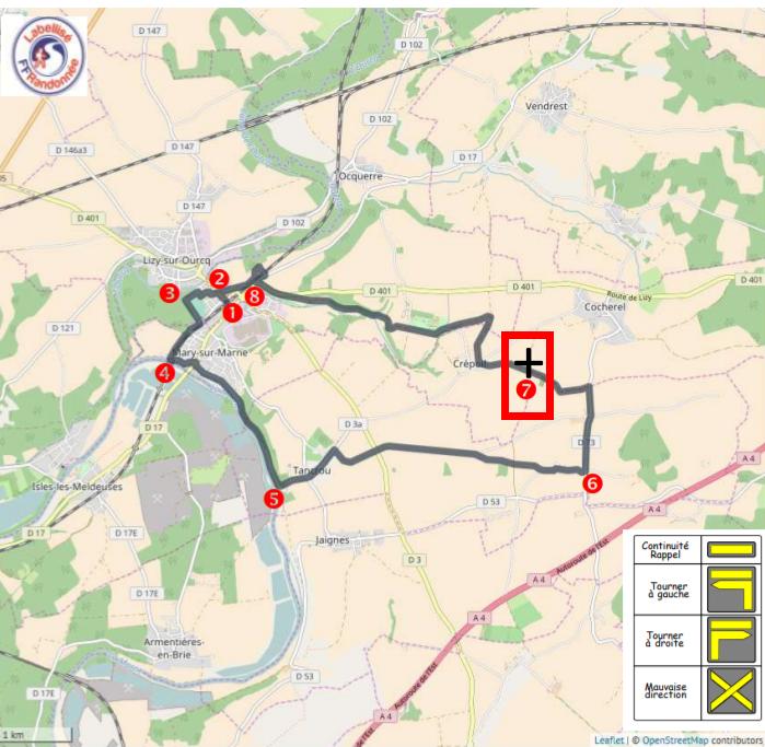 carte extraite du site http://www.randonnee-77.com/wp-content/uploads/2017/05/La-Montagne-des-Lorrains.pdf  Adenca a ajouté une croix et encadré l'endroit où devrait passer les camions