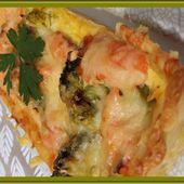 Tarte au saumon fumé et brocoli - Oh, la gourmande..