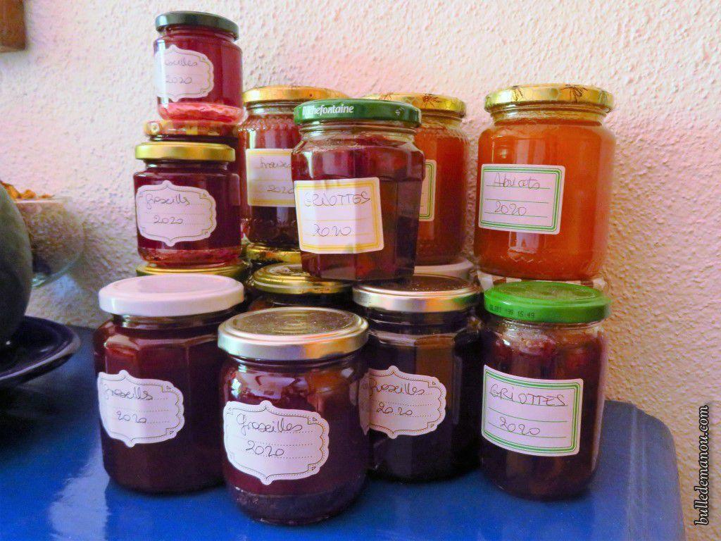 Abricots, fraises, groseilles et griottes...