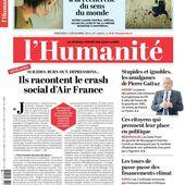 A la une de l'Humanité (02-12-15) - Le blog de la section d'Hénin-Beaumont du Parti Communiste Français