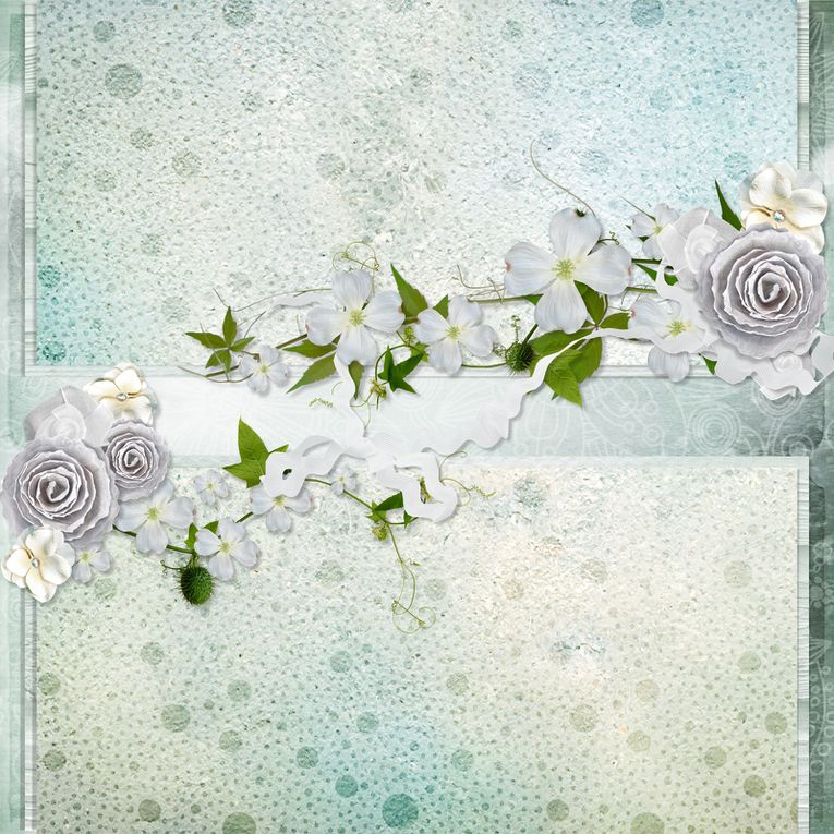 """Kit de scrapbooking """" Pure Heart """" (Stacked pages)"""