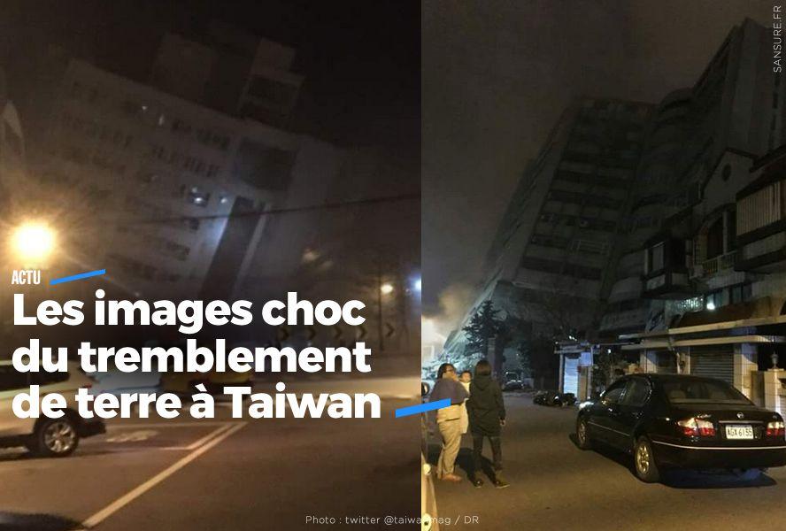 Les images choc du tremblement de terre à Taïwan #séisme