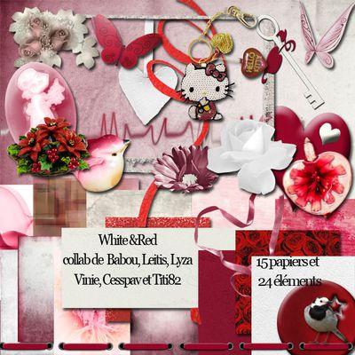 white and red par le forum digiscrap pour tout