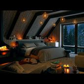 Cozy Winter Cabin with Relaxing Snowstorm, Blizzard and Heavy Wind Sounds for Sleep, Relax, Study