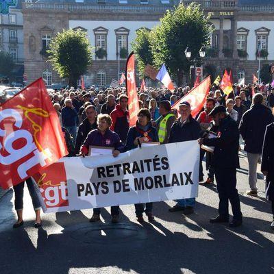 Journée d'action retraités - Rassemblement devant le kiosque place des otages à Morlaix le vendredi 1er octobre à 11h à l'appel de l'intersyndicale des retraités