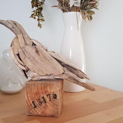 Mouette en bois flotté
