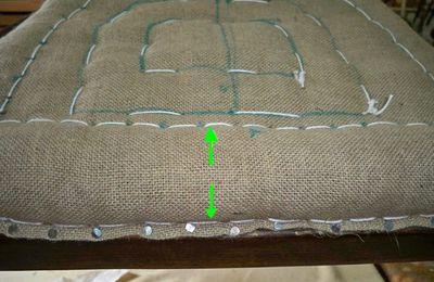 215 - restauration de siège - couture du bord