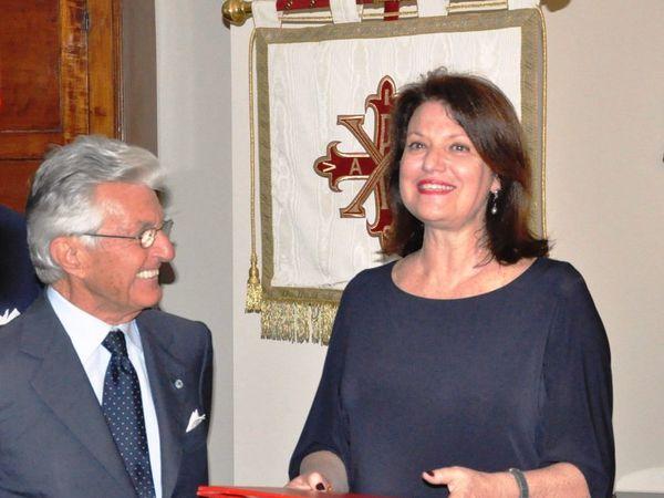 A gauche Comte Niccolo' Chiusano, Mme Isabelle Bonnal, S.E. Paul Masseron