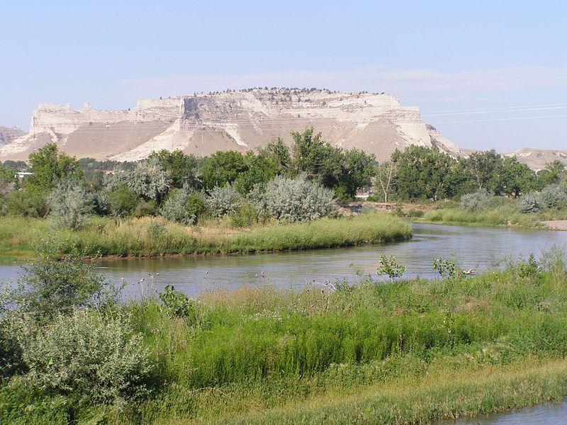 (North Platte River à Scotts Bluff NM, photo Chris Light, 18/07/2007, wikipedia)