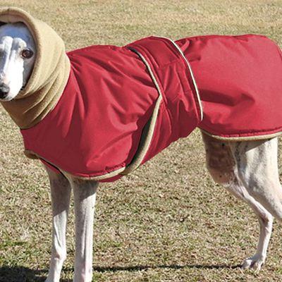 28€ manteau doublé imperméable pour chiens lévriers galgos au profit de l'association sos chiens galgos