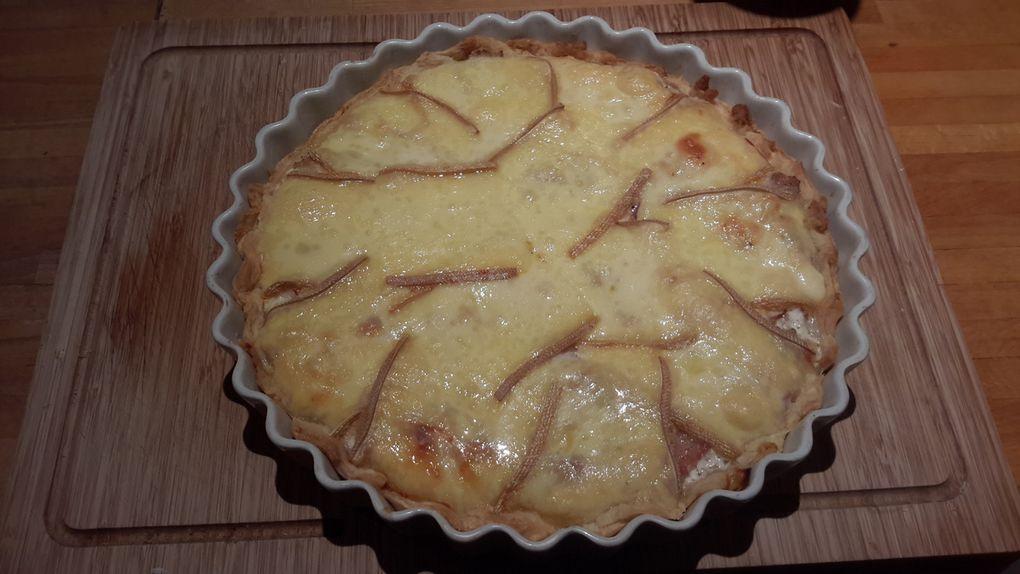 Tarte au thon lard raclette
