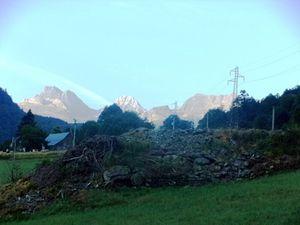 vue matinale des Pyrénées.