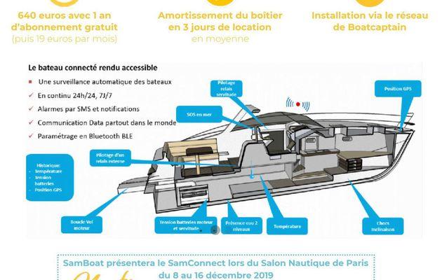 Nautic 2018 - SamBoat dévoile son boitier connecté pour bateaux
