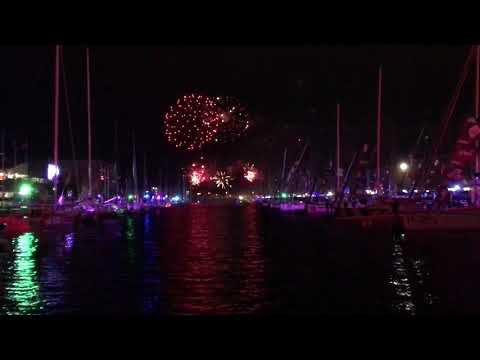 Transat Jacques Vabre - Direct depuis le feu d'artifice du bassin Paul Vatine du port du Havre