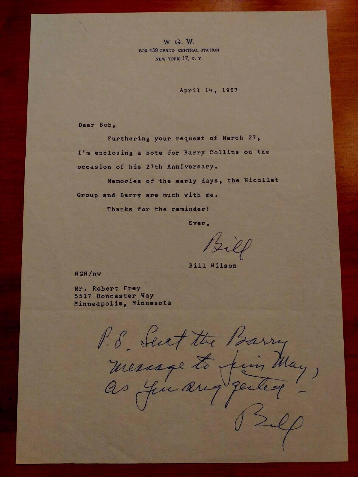 14 Avril 1967 : Bill W. félicite Barry pour son 27° anniversaire, ainsi que le 27° anniversaire du groupe