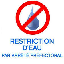Restriction de certain usages de l'eau