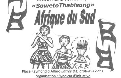 Ouverture du Festival d'été d'Avignonet(31) : l'Afrique du Sud ce soir