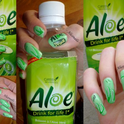 Nail Art Aloe Drink