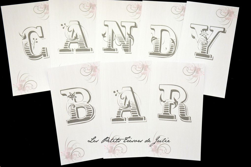 "Carterie Candy Bar ""Gris & Rose"""