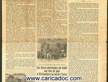 «Nantes est libérée Le Phare était-il libre ou enchaîné ?», Le Phare, 13/8/1944.