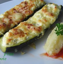 Courgettes farçies au fromage