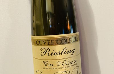 Alsace riesling Cuvée Colette 2016 Domaine Weinbach