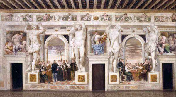 Giovanni Antonio Fasolo (1530 - 1572) Décoration de la villa palladienne Caldogno