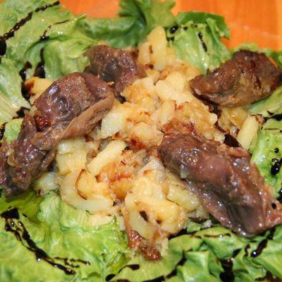 Salade pommes de terre et gésiers canard