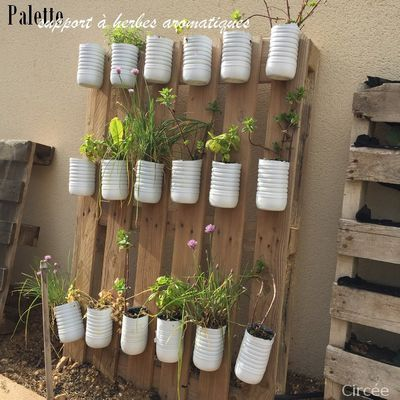 Ma palette support d'herbes aromatiques