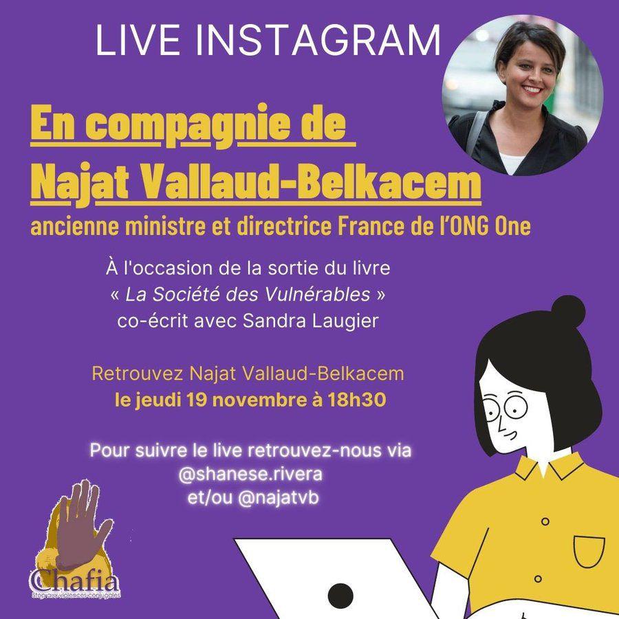 """Jeudi 19 novembre à partir de 18h30 - """"La société des vulnérables"""" avec Najat Vallaud-Belkacem"""