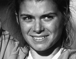 Mia Hamm, first American woman who leaves  her footprints on the prestigious Champions Promenade.