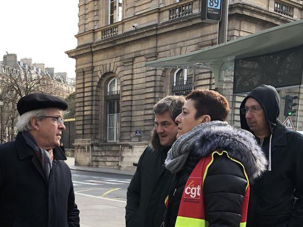 Le sénateur PS Olivier JACQUIN de Meurthe et Moselle  avec Isabelle BIGAND VIVIANI (secrétaire CGT Orly)
