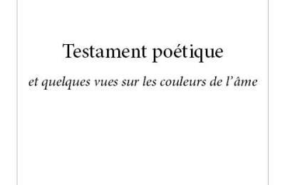 Testament poétique, une nouvelle bible de la littérature